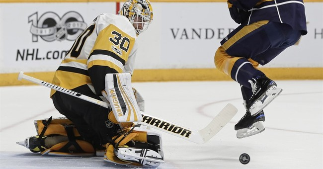 The Latest: Predators beat Penguins 5-1, trail Cup Final 2-1