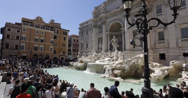 Man arrested at Rome's Trevi Fountain with 40 panty videos