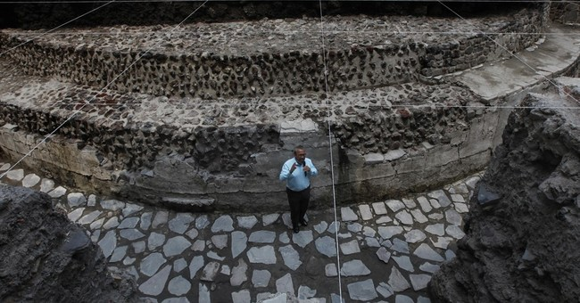 Mexico protects ancient temple while hotel is built above