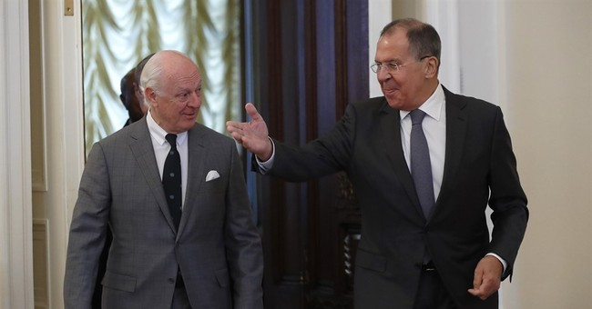 UN Syria envoy visits Russia at 'delicate' time