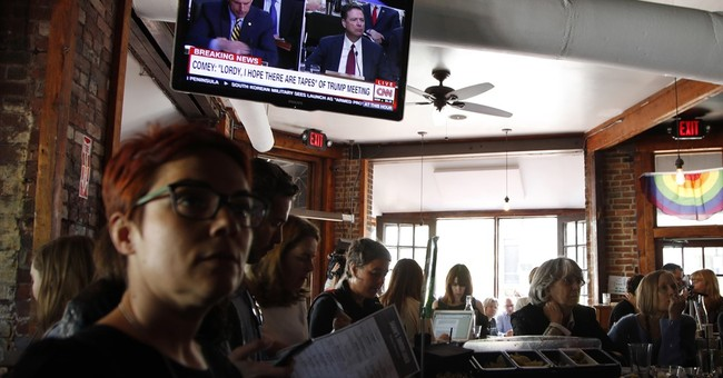 Watching Comey: For some it's a party