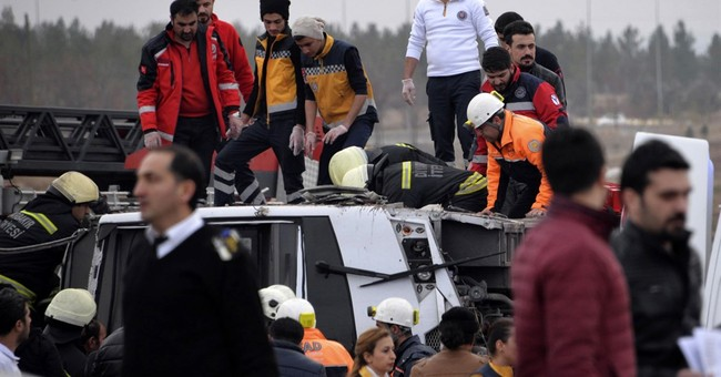 Blast targeting police in southeast Turkey kills 4 officers