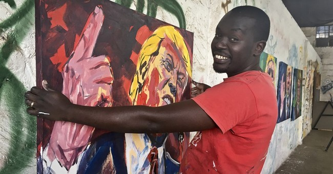 Obama made Kenyan artist's name, but Trump portraits fizzle