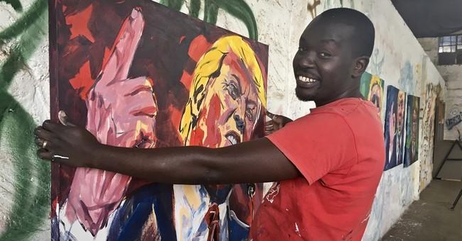 Obama made Kenyan artist's name, but Trump portraits fizzle