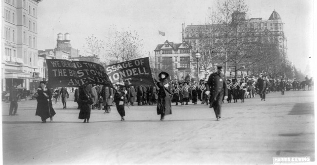 Women's march in DC an echo of the past