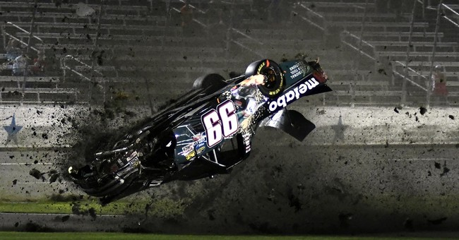 Bell wins at Texas under caution ahead of flipped truck