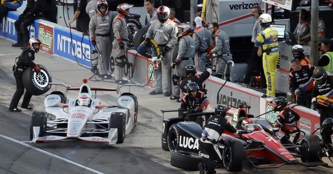 Power wins wild IndyCar race at Texas under caution