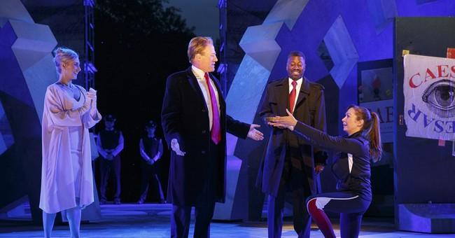 The Latest: Director of 'Julius Caesar' addresses audience