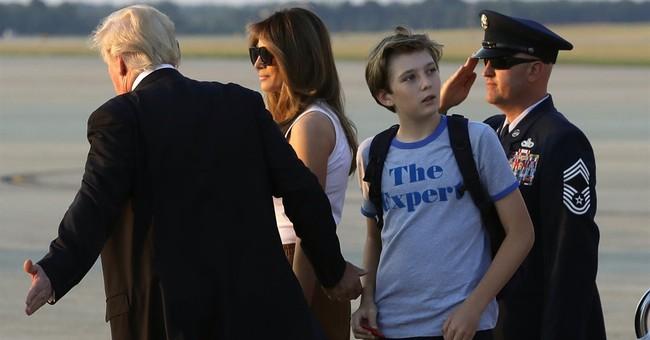 Melania Trump, son Barron move into the White House