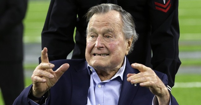 Former President George H.W. Bush celebrating 93rd birthday