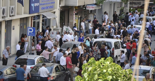 The Latest: Earthquake kills woman on Greek island of Lesbos
