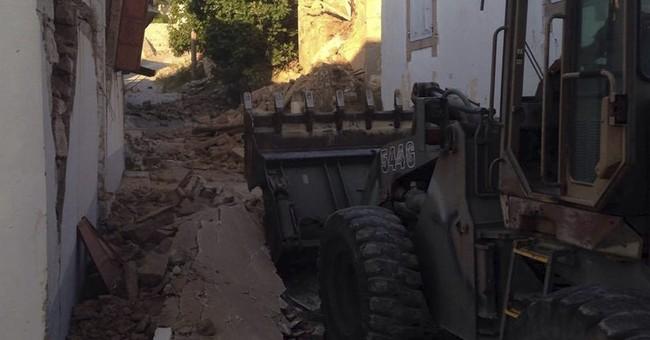 Quake kills woman, guts houses on Greek island of Lesbos