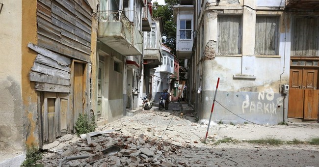 The Latest: Earthquake kills woman on Greek island of Lesbos