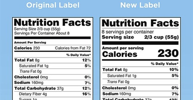 FDA delays revamped nutrition facts panel