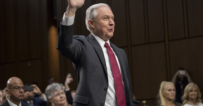 The Latest: Trump pleased with Sessions testimony