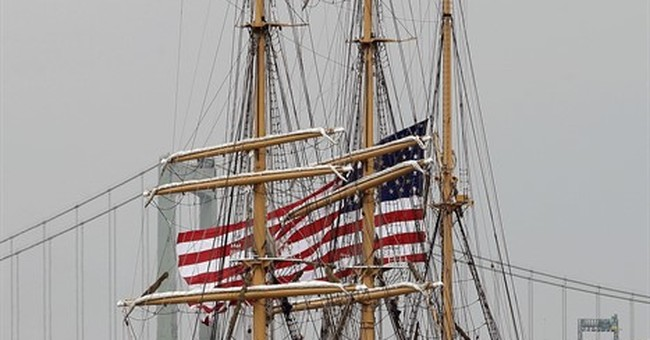 The Latest: Boston hosts more than 50 tall ships