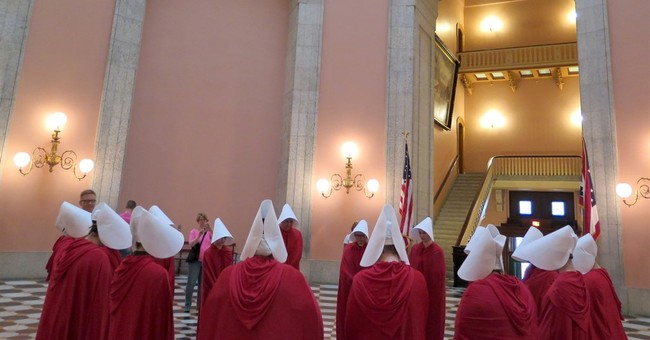 Women protest Ohio abortion bill in 'Handmaid's Tale' garb