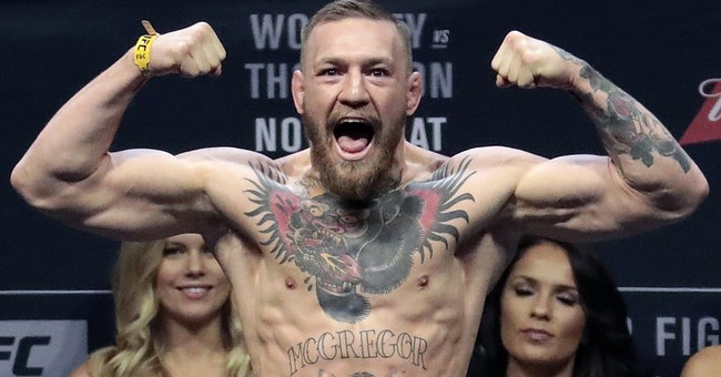 Conor McGregor and Floyd Mayweather announce their fight date