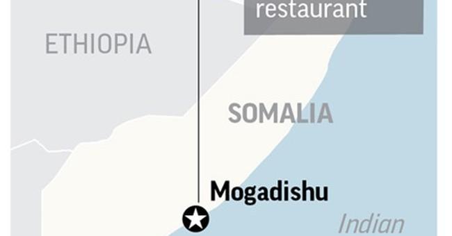 Hostages held, 17 killed in attack at Somalia restaurant