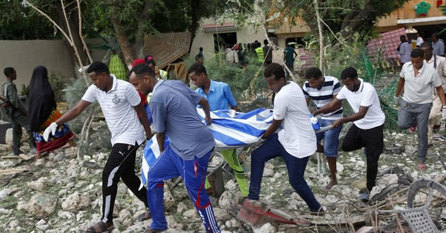 The Latest: US condemns deadly attack on Somalia restaurant