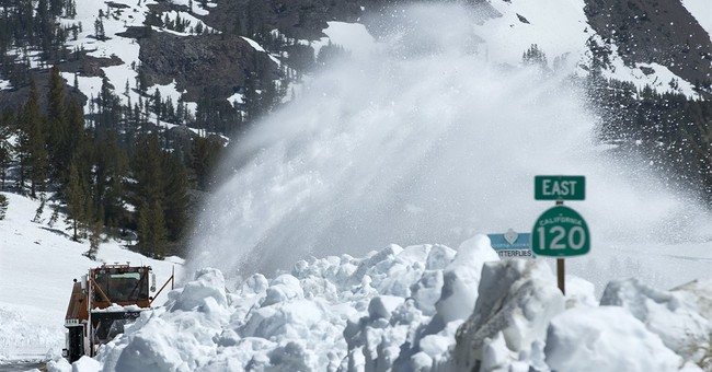 California still digging out snowy roads, but heat may help