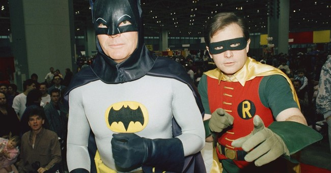 The Latest: Bat-Signal at LA City Hall honors Adam West