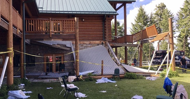 The Latest: Investigation begins in Montana deck collapse