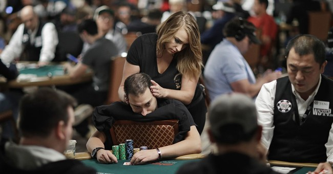 At World Series of Poker, massage brings relief _ and luck
