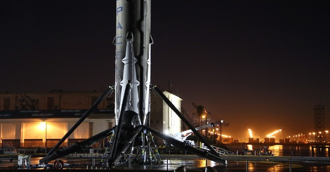 Recovered SpaceX rocket arrives in Port of Los Angeles