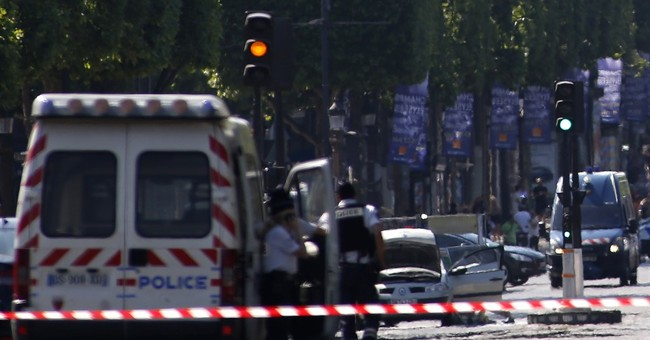 The Latest: Man rams explosives-laden car into French police