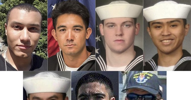 Remains of 7 sailors killed in US ship collision return home