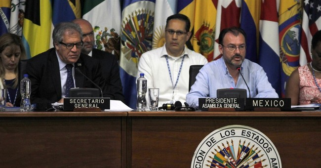 """Venezuela calls countries """"lap dogs"""" at OAS Mexico meeting"""
