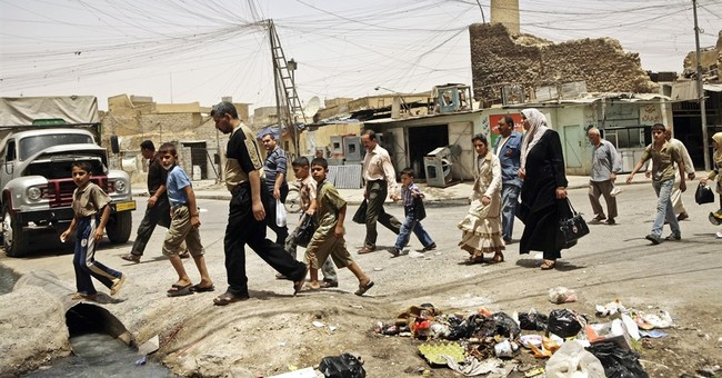 Iraqis: IS blew up mosque in 'formal declaration of defeat'
