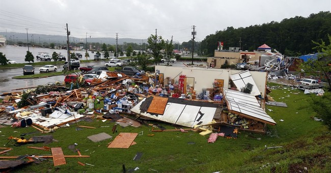 The Latest: Weather service says Cindy winding down