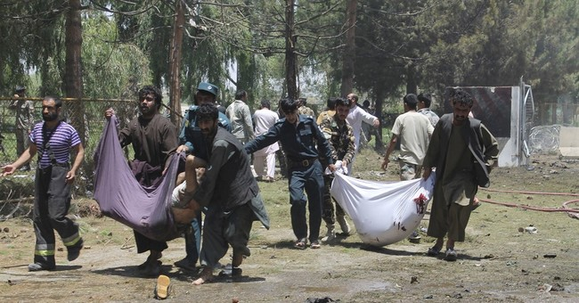 The Latest: Taliban claims deadly Helmand explosion