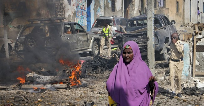 7 dead in suicide blast at police station in Somalia capital