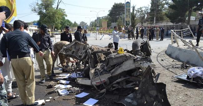 40 people killed in bomb, gun attacks in 3 Pakistani cities