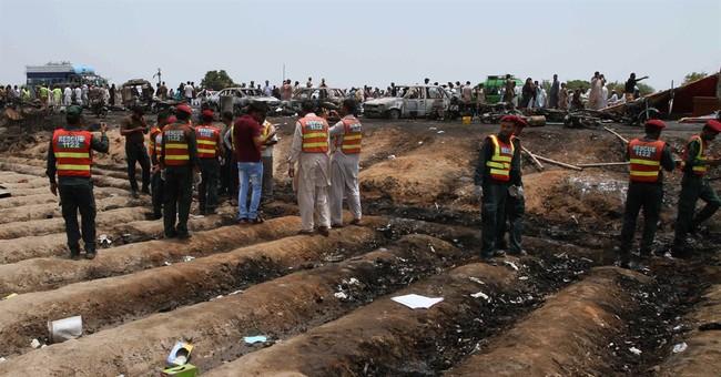 The Latest: 153 killed in Pakistan tanker fire