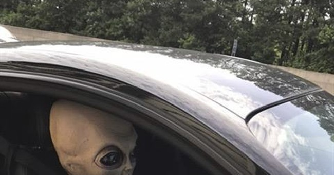 Not quite warp speed: Speeding man had alien doll passenger