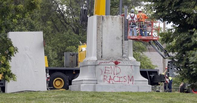 Crews begin dismantling Confederate monument in St. Louis