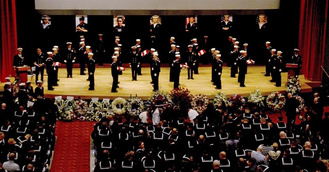 US Navy holds memorial service for 7 sailors killed in crash