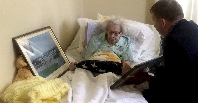 Sister of WWII soldier gets his long-lost Purple Heart, flag