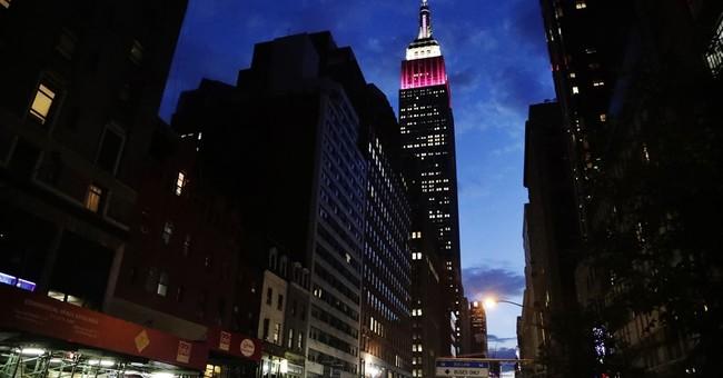 Skyscraper lit in Qatar Airways' colors amid dispute