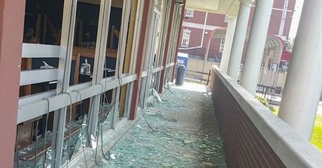 Blast guts part of unused university dorm in Kentucky