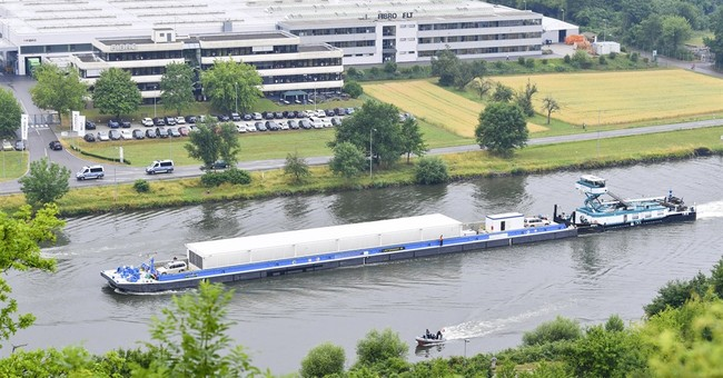 Nuclear waste containers shipped on river in Germany