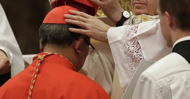 Pope gives 5 new cardinals prestigious red hats