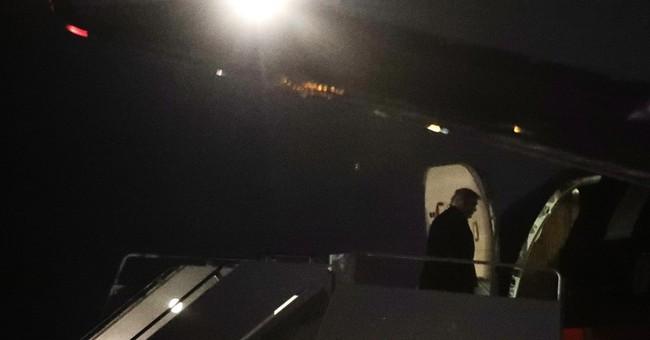 Trump pays surprise visit to his Washington hotel