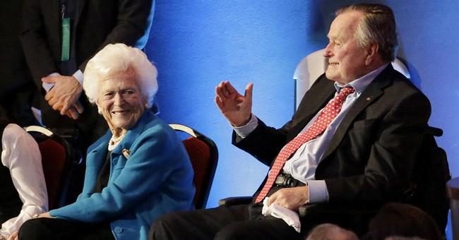 The Latest: George HW Bush, Barbara, in hospital overnight
