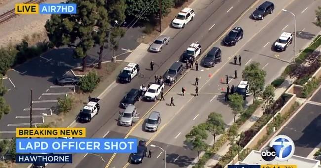 Suspect livestreams shootout with Los Angeles police