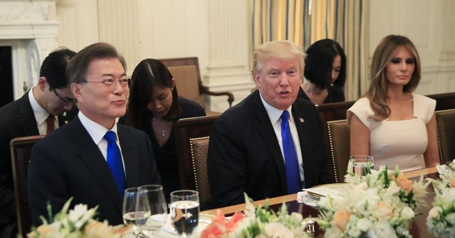 The Latest: Trump praises new South Korean president